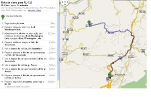 An estimated circuit to do by bike, +/- 60km