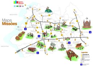 Mapa da Rota Missões
