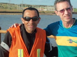 Encontro com o ciclista e prefeito do município de Jardim Olinda (PR), na divisa entre SP e PR.