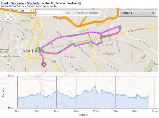 Circuito feito no Bikely - clique para abrir. http://www.bikely.com/maps/bike-path/centro-zl-tatuape-cambuci