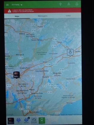 """Este foi o trajeto registrado pelo aplicativo """"Phone Tracker"""" no meu tablet que demonstra os 76 km percorridos desde a saída em Sampa até o desfecho sinistro já chegando em Jacareí. Até agora o celular que também foi roubado está desligado..."""